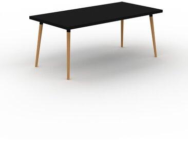 Schreibtisch Massivholz Schwarz - Moderner Massivholz-Schreibtisch: Einzigartiges Design - 180 x 75 x 90 cm, konfigurierbar