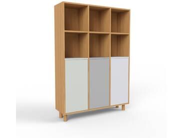 Highboard Eiche - Elegantes Highboard: Türen in Sandgrau - Hochwertige Materialien - 118 x 168 x 35 cm, Selbst designen