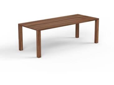 Schreibtisch Massivholz Nussbaum, Holz - Moderner Massivholz-Schreibtisch: Einzigartiges Design - 220 x 76 x 90 cm, konfigurierbar