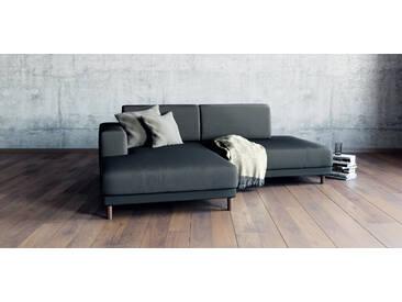 Sofa Steingrau - Moderne Designer-Couch: Hochwertige Qualität, einzigartiges Design - 224 x 75 x 162 cm, Komplett anpassbar