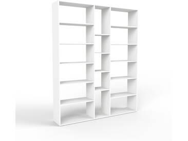 Bücherregal Weiß - Modernes Regal für Bücher: Hochwertige Qualität, einzigartiges Design - 190 x 233 x 35 cm, Individuell konfigurierbar