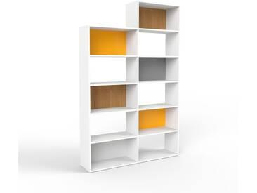 Bücherregal Weiß - Modernes Regal für Bücher: Hochwertige Qualität, einzigartiges Design - 152 x 233 x 35 cm, Individuell konfigurierbar