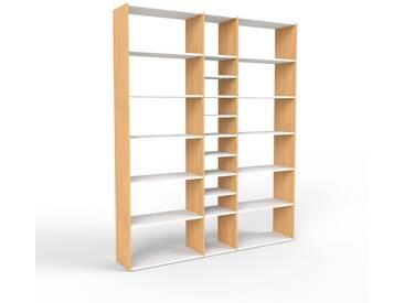 Bücherregal Buche, Holz - Modernes Regal für Bücher: Hochwertige Qualität, einzigartiges Design - 190 x 233 x 35 cm, konfigurierbar