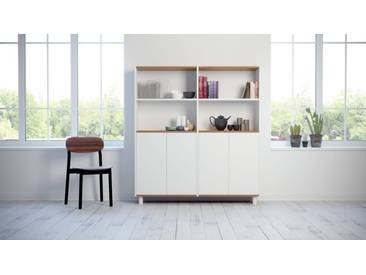 Highboard Weiß - Elegantes Highboard: Türen in Weiß - Hochwertige Materialien - 152 x 168 x 35 cm, Selbst designen