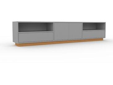Lowboard Grau - TV-Board: Schubladen in Grau & Türen in Grau - Hochwertige Materialien - 226 x 47 x 35 cm, Komplett anpassbar