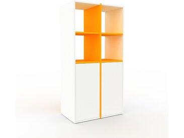 Regalsystem Weiß - Flexibles Regalsystem: Türen in Weiß - Hochwertige Materialien - 79 x 157 x 47 cm, Komplett anpassbar
