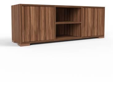 TV-Schrank Nussbaum - Moderner Fernsehschrank: Türen in Nussbaum - 118 x 43 x 35 cm, konfigurierbar