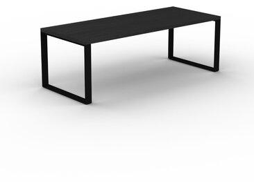 Schreibtisch Massivholz Wenge, Holz - Moderner Massivholz-Schreibtisch: Einzigartiges Design - 220 x 75 x 90 cm, konfigurierbar