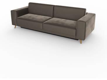 Schlafsofa Sandgrau - Elegantes, gemütliches Bettsofa: Hochwertige Qualität, einzigartiges Design - 248 x 75 x 98 cm, konfigurierbar