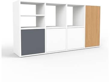 Sideboard Weiß - Designer-Sideboard: Türen in Weiß - Hochwertige Materialien - 156 x 80 x 35 cm, Individuell konfigurierbar