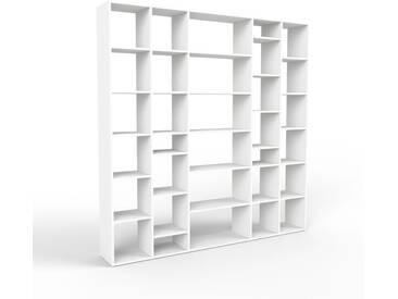 Bücherregal Weiß - Modernes Regal für Bücher: Hochwertige Qualität, einzigartiges Design - 231 x 233 x 35 cm, Individuell konfigurierbar