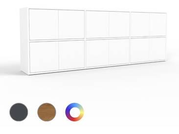 Highboard Weiß - Elegantes Highboard: Türen in Weiß - Hochwertige Materialien - 226 x 80 x 35 cm, Selbst designen