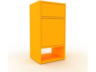 Rollcontainer Gelb - Rollcontainer: Schubladen in Gelb & Türen in Gelb - 41 x 80 x 35 cm, konfigurierbar