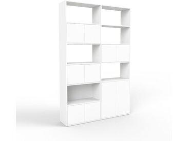 Aktenschrank Weiß - Flexibler Büroschrank: Türen in Weiß - Hochwertige Materialien - 152 x 233 x 35 cm, Modular