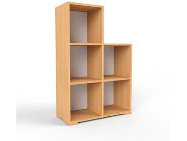 Holzregal Buche, Holz - Skandinavisches Regal aus Holz: Hochwertige Qualität, einzigartiges Design - 79 x 120 x 35 cm, Personalisierbar