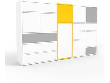 Aktenschrank Weiß - Büroschrank: Schubladen in Weiß & Türen in Weiß - Hochwertige Materialien - 193 x 118 x 35 cm, Modular