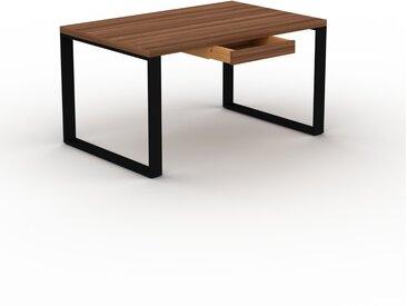 Schreibtisch Massivholz Nussbaum - Moderner Massivholz-Schreibtisch: mit 1 Schublade/n - Hochwertige Materialien - 140 x 75 x 90 cm, konfigurierbar