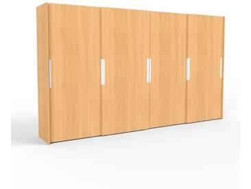 Kleiderschrank Buche, Holz - Individueller Designer-Kleiderschrank - 404 x 233 x 65 cm, Selbst Designen, hohe Schublade/Schublade Glasfront/Kleiderlift