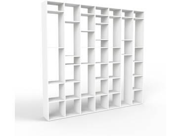 Bücherregal Weiß - Modernes Regal für Bücher: Hochwertige Qualität, einzigartiges Design - 272 x 253 x 35 cm, Individuell konfigurierbar