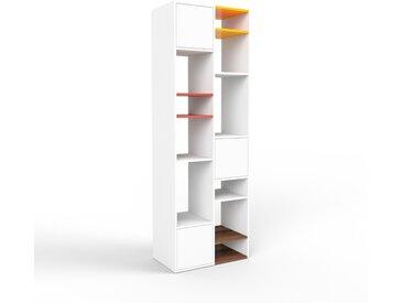 Regalsystem Weiß - Flexibles Regalsystem: Türen in Weiß - Hochwertige Materialien - 79 x 233 x 47 cm, Komplett anpassbar