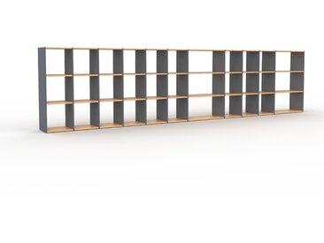Schallplattenregal Anthrazit - Modernes Regal für Schallplatten: Hochwertige Qualität, einzigartiges Design - 498 x 118 x 35 cm, Selbst designen
