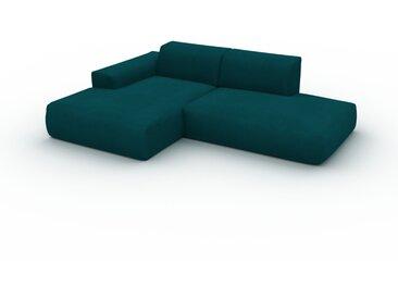 Ecksofa Samt Petrolblau - Flexible Designer-Polsterecke, L-Form: Beste Qualität, einzigartiges Design - 245 x 72 x 168 cm, konfigurierbar