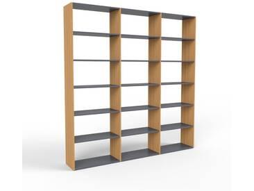 Bücherregal Eiche, Holz - Modernes Regal für Bücher: Hochwertige Qualität, einzigartiges Design - 226 x 233 x 35 cm, konfigurierbar