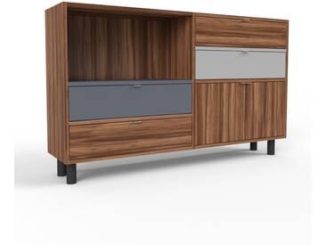 Sideboard Nussbaum - Sideboard: Schubladen in Nussbaum & Türen in Nussbaum - Hochwertige Materialien - 152 x 91 x 35 cm, konfigurierbar