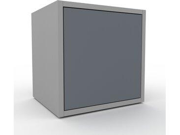 Nachtschrank Grau - Eleganter Nachtschrank: Türen in Anthrazit - Hochwertige Materialien - 41 x 41 x 35 cm, konfigurierbar