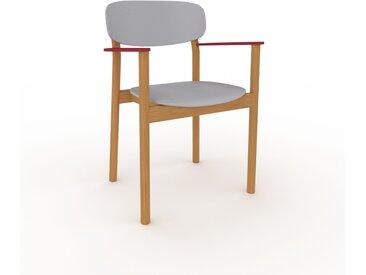 Holzstuhl in Lichtgrau 52 x 82 x 58 cm einzigartiges Design, konfigurierbar
