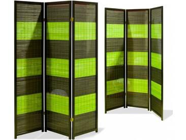 Paravent Zen Bamboo Schwarz 3 teilig