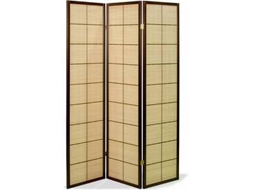 Paravent Kasai Bamboo Walnuss 3 teilig