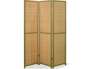 Paravent Ino Bamboo Olive 3 teilig