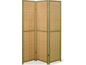 Paravent Ino Bamboo Olive 3 teilig