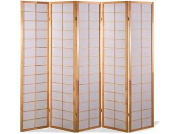 Paravent Japan Traditional Natur 5 teilig