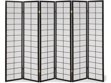 Paravent Japan Traditional Schwarz 6 teilig