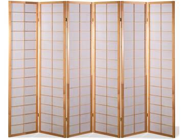 Paravent Japan Traditional Natur 6 teilig