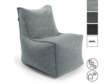 Sitzsack 'Der Ruhepol' mit Hocker als innovativer Sessel Ersatz