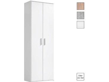Der Lange' Mehrzweckschrank, Aktenschrank, Schrank, Weiß in 60x180x34 CM