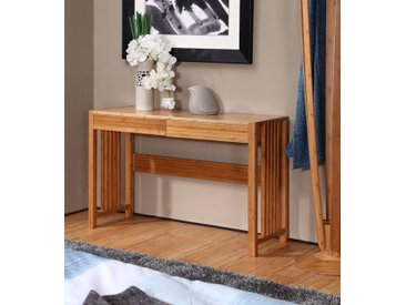 Konsolentisch 160 cm, Bambus massiv natur, Schubladen mit Softclose, 1600 x 78 x 48 cm