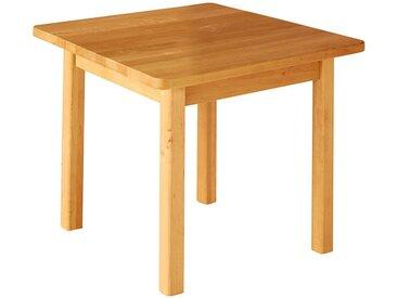 Robin Kindergartentisch quadratisch 70 x 70 cm Höhe 52 cm Erle