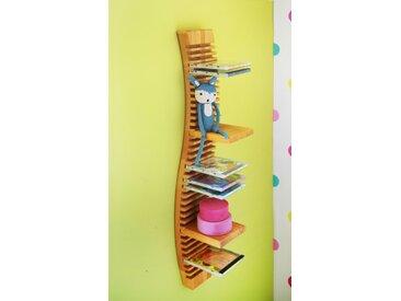 CD-Regal hängend 120 cm mit 4 Einsteckböden Erle