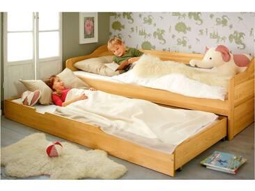 Komplett-Set Nico Schlafsofa mit Matratzen-Bettkasten und 2 Lattenrosten 90x200 cm Erle