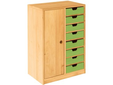 Set Robin Ordnungsregal schmal mit Tür und Schubladen Höhe 82 cm, Breite 58 cm