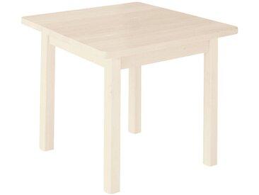 Robin Kindergartentisch quadratisch Kiefer weiß lasiert 60x60 cm Höhe 46 cm
