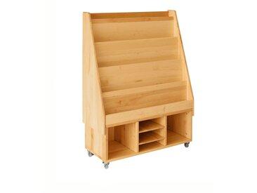 Spar-Set: Robin Rollregal mit 3 Fächern, Bücherregalaufsatz und 2 Einlegeböden