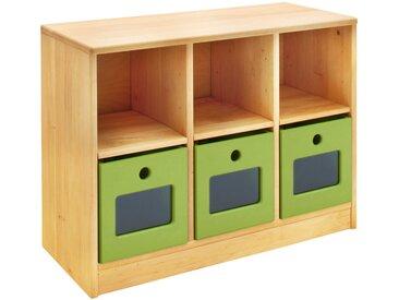 Robin Set Ordnungsregal breit mit 3 Ordnungsboxen. Höhe 64 cm, Breite 86 cm