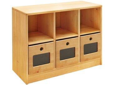 Robin Set Ordnungsregal breit mit 3 Ordnungsboxen 64 x 86 cm, Erle