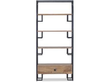 Cromwy - Regal / Raumteiler braun schwarz Mangoholz