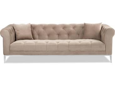 Moretti - Sofa 3-Sitzer beige Velvet
